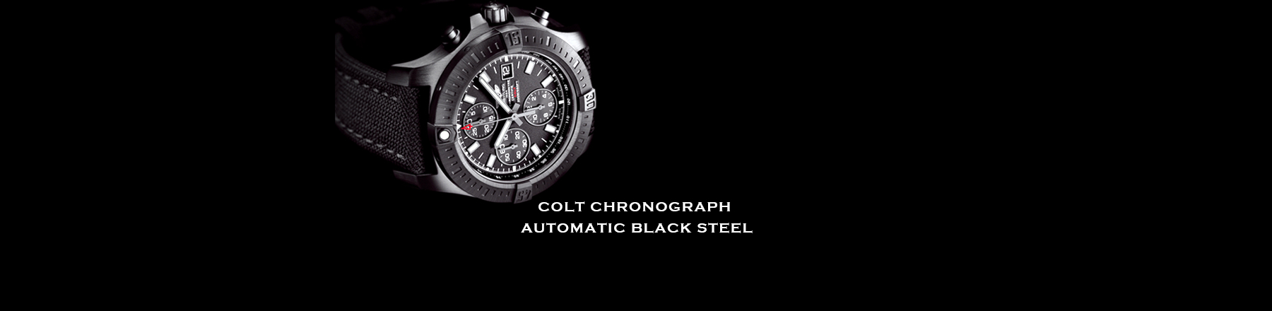 COLT CHRONOGRAPH AUTOMATIC BLACK STEEL